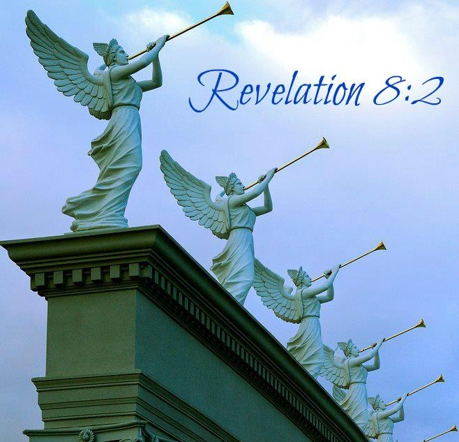 ~ Revelation 8:1 ~ And when he had opened the seventh seal, there was silence in heaven about the space of half an hour.   ~  2 And I saw the seven angels which stood before God; and to them were given seven trumpets. ~