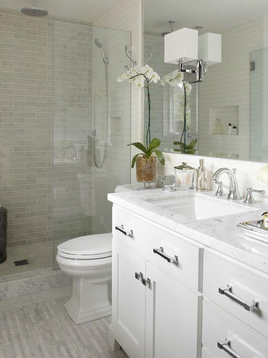 Bancada de banheiro no estilo tradicional