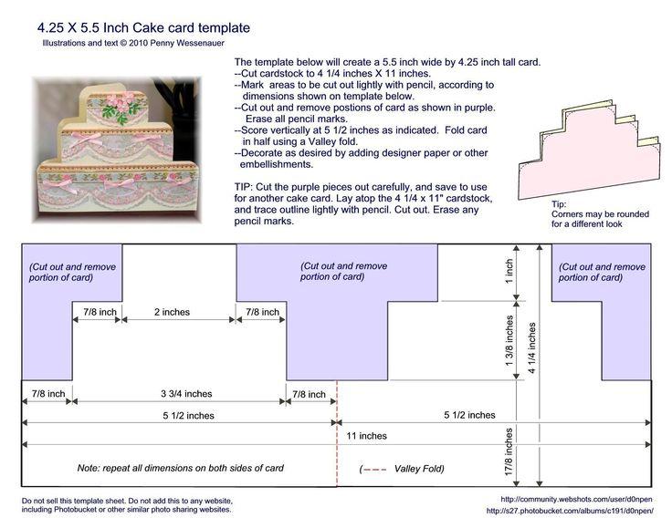 "6"" x 4"" cake card template"
