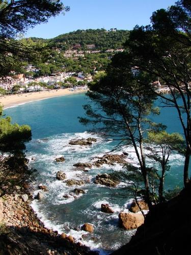 Costa Brava (Llafranc Girona), Katalonien. Unweit von Barcelona findet man solche traumhaften Badebuchten am Mittelmeer.