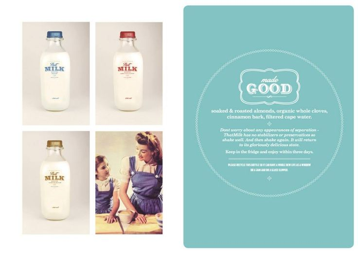 That Milk Branding and Design #canvas #design #logo #packaging #branding #typography #vintage #milk
