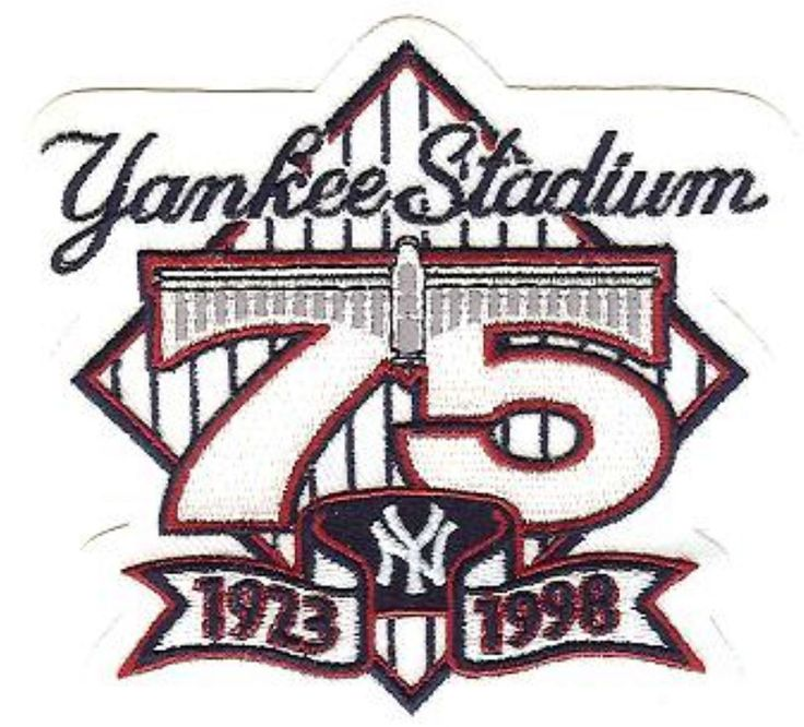 Yankee Stadium 75th Anniversary New York Yankees Stadium Yankee Stadium Mlb Logos