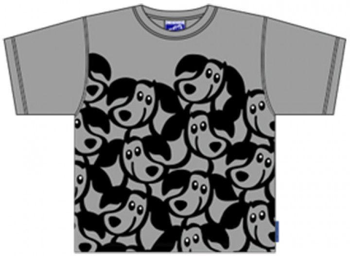 Bo Bendixen Kids T-Shirt grau Multi Zippo Hund