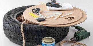 Detailný návod ako premeniť starú pneumatiku na taburetku