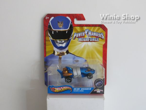 BLUE RANGER - SHARK ZORD - 2013 HOT WHEELS SABAN'S POWER RANGERS MEGAFORCE SERIES