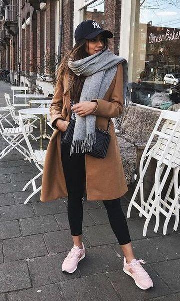 Look Sobretudo + Cachecol | Looks inverno feminino, Casaco sobretudo feminino, Ideias fashion