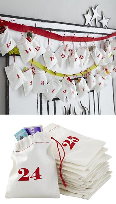 {Christmas Countdown Goodie Bags} SoooOOOooOo cute, love all four showcased. Do you have a reusable advent calendar?