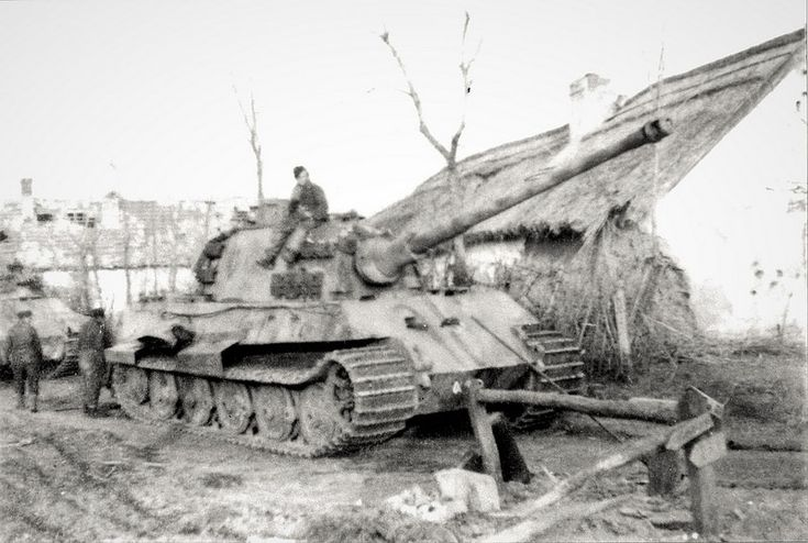 A King Tiger Ausf B nr. 121 of schwere Panzer Abt. 509 operating in Hungary during 1945