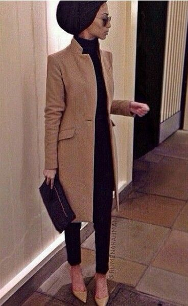 I love the turtleneck with the gorgeous trench!