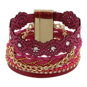 dikke armband roze Ibiza style pink bracelet sieraden jewelry armbanden