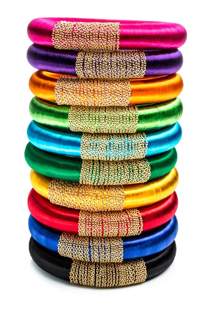"""Rosena Sammi Jewelry: """"Harem Bhangra"""" bangles from the """"Monsoon Collection"""" ($66), featured in the 2013 @bibimagazine Bridal Annual for the """"Urban Bride"""""""