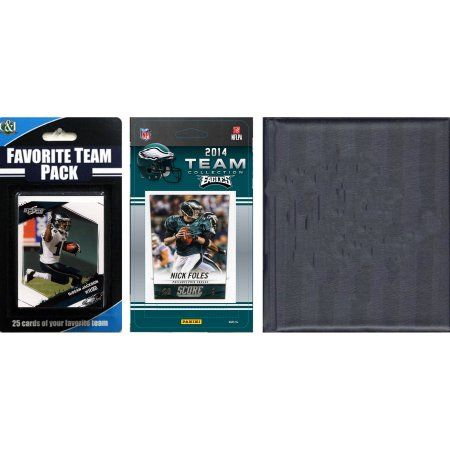 C Collectables NFL Philadelphia Eagles Licensed 2014 Score Team Set and Favorite Player Trading Card Pack Plus Storage Album