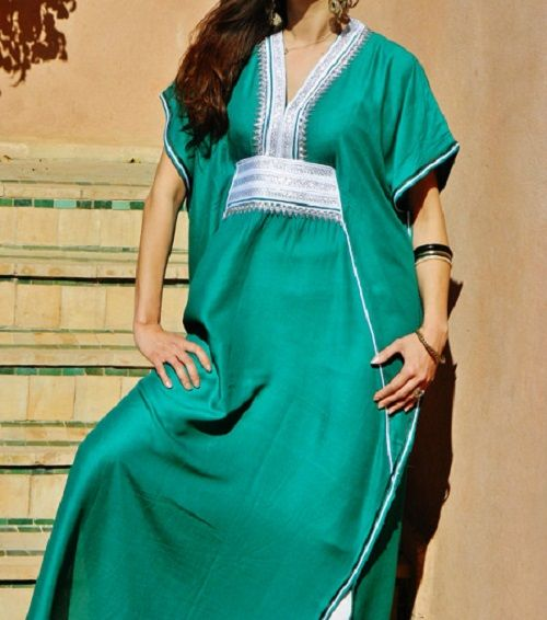 Emerald GANDORA Caftan Kaftan $75.00 This is a part of our Resort Wear Collection You can wear it on the beach, at the BBQ, daytime, evening, anywhere, anytime. The Caftan is not just for one season, you can wear it all year round. Add a touch of Bohemian to your everyday with one of our gandoras... One size