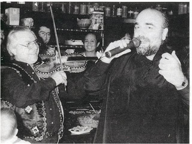 Private concert of Demis Roussos in Marbella organized by the greek millionaire Helen Tavlos.
