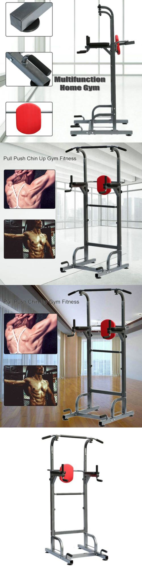 Push Up Stands 158925: Heavy Duty Dip Station Power Tower Pull Push Chin Up Bar Home Gym Fitness Core -> BUY IT NOW ONLY: $94.05 on eBay!