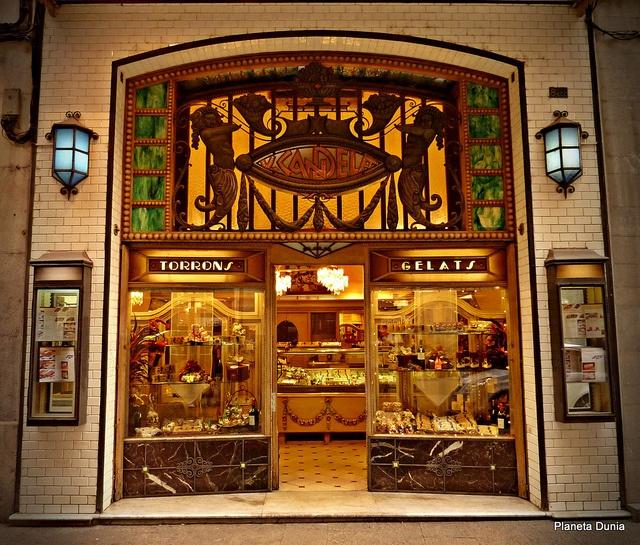 Girona, Catalonia, Spain~ Fachada de tienda modernista photo by Planeta Dunia, via Flickr