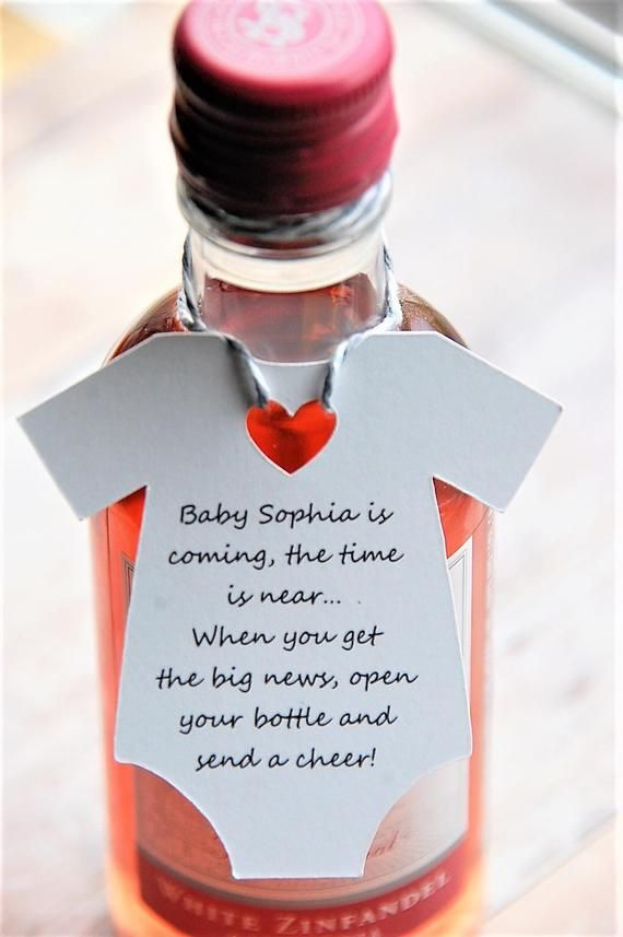 10 tags ~ Baby is coming the time is near Tags ~ Gift Tags ~ Baby Shower ~ Wine Bottle Gift ~ 2 1/2″