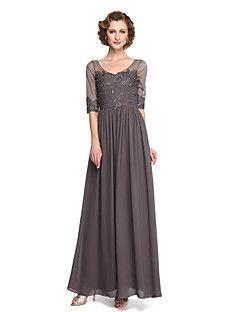 2017 Lanting bride® a-linje mor til bruden kjole - elegant fotside halv ermet – NOK kr. 2.497