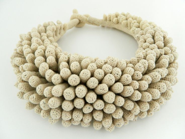 Necklace by Lidia Puica ( cotton, fabric).