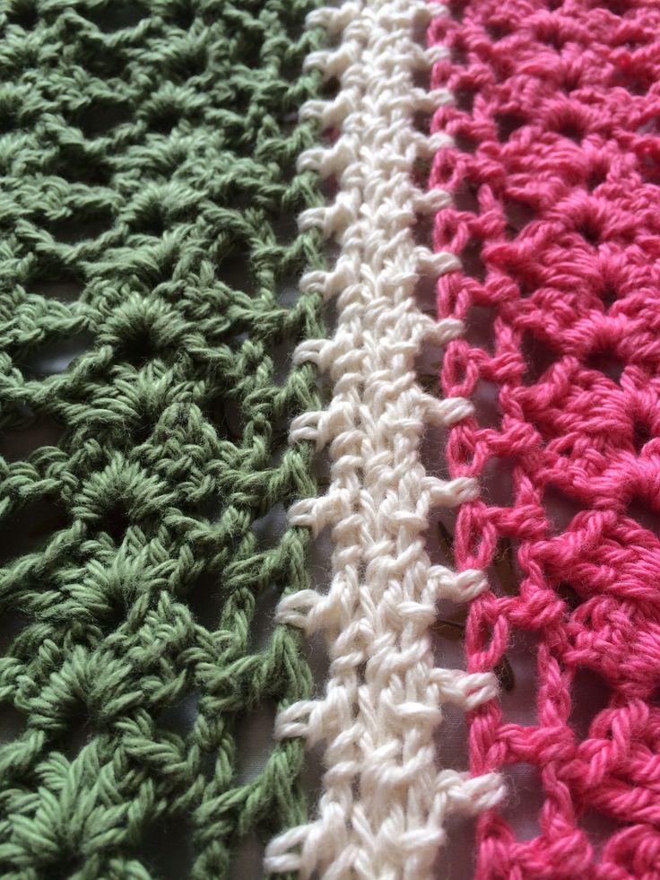 Bendigo Woollen Mills Cotton... My Summer blanket is taking shape.
