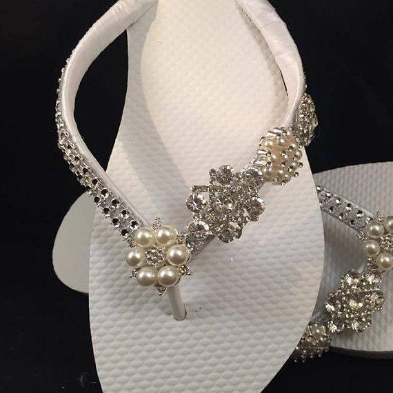 Jordan Bridal Flip Flops  Custom Flip Flops  Dancing Shoes