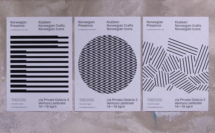 Posters for Norwegian Presence by graphic design studio Bielke&Yang