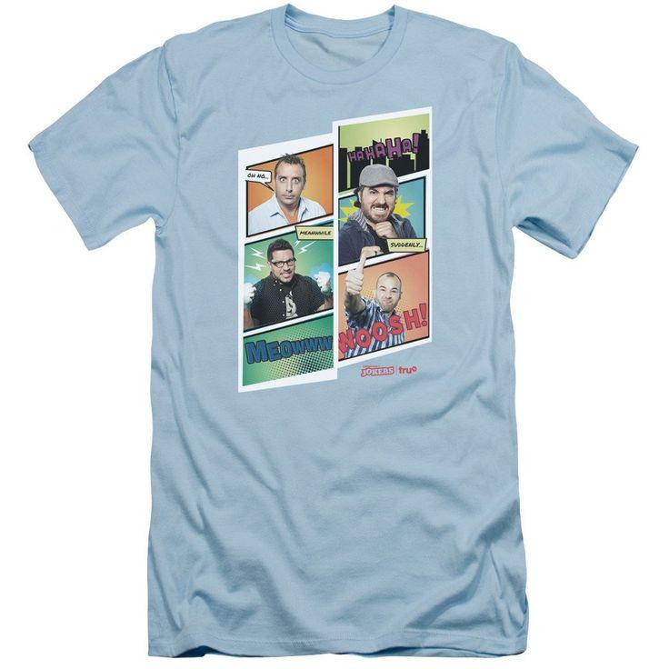 truTV Impractical Jokers Comic Cast Adult Carolina Blue T-Shirt