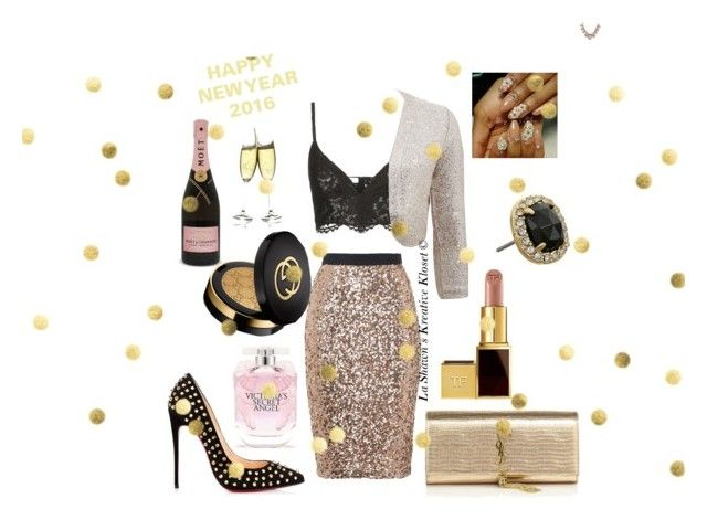 """Merry Christmas and Happy New Year"" by lashawnskreativekloset on Polyvore featuring French Connection, Yves Saint Laurent, Valentino, Oscar de la Renta, Tom Ford, Gucci, Victoria's Secret, Kate Spade and Darya London"