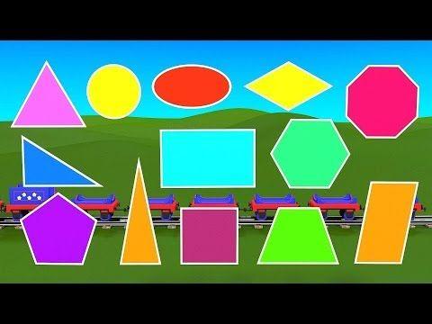 Apprenez les formes géométriques avec le train Tchou-Tchou - 1 ! Géometrie pour enfants Dessin animé - YouTube