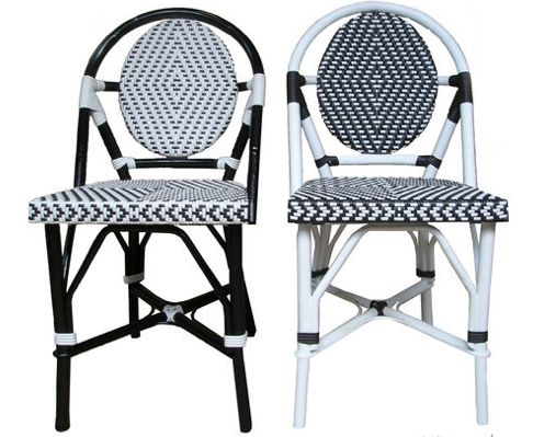 french bistro chairs ikea metal table cafe for sale