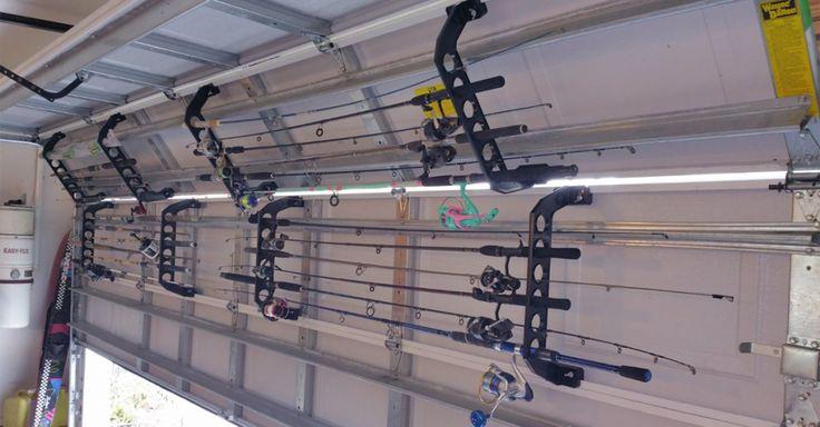 Garage Fishing Rod Holder ....need for Joe.