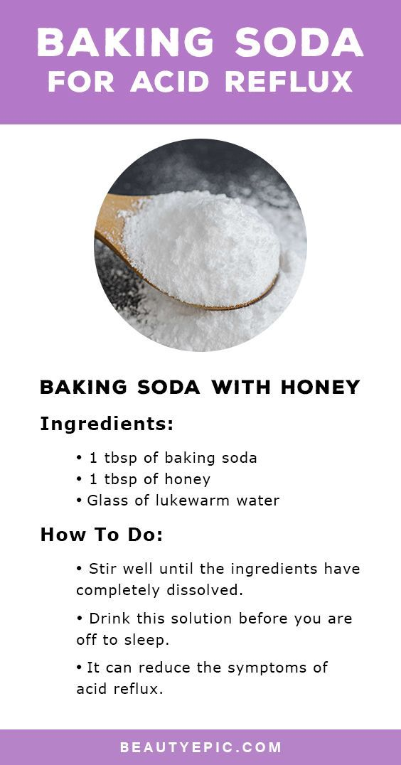 The stomach contains acid which if moves up into the esophagus can cause symptoms such as a burning sensation. Using of baking soda for acid reflux is one