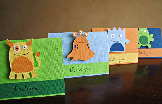 Little+Monster+Party++Favor+Bag+Toppers+by+ScrapYourStory+on+Etsy,+$1.25
