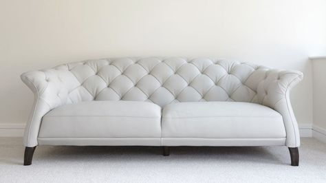 Luxe Modern 2 to 3 Seater Leather Chesterfield Sofa ...