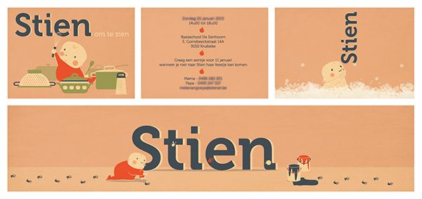 Birth announcement Stien on Behance