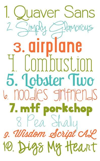 More fun, downloadable fonts - I love free fonts...