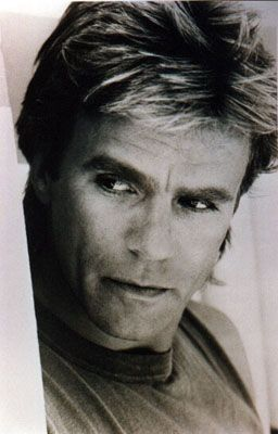 Richard Dean Anderson  ...How I knew you could make an escape tool from a bandaid, gum and a rubber band!