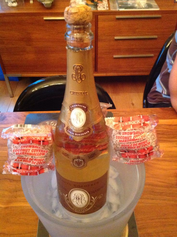 Cristal Champagne Tunnocks Snowballs Scotland Calgary Alberta Canada LIVING IT UP IN CALGARY