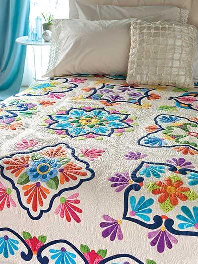 Fiesta de Talavera Quilt Pattern. Love the colors!