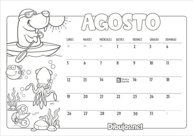 Calendario Infantil 2019 Para Imprimir Y Colorear Dibujos