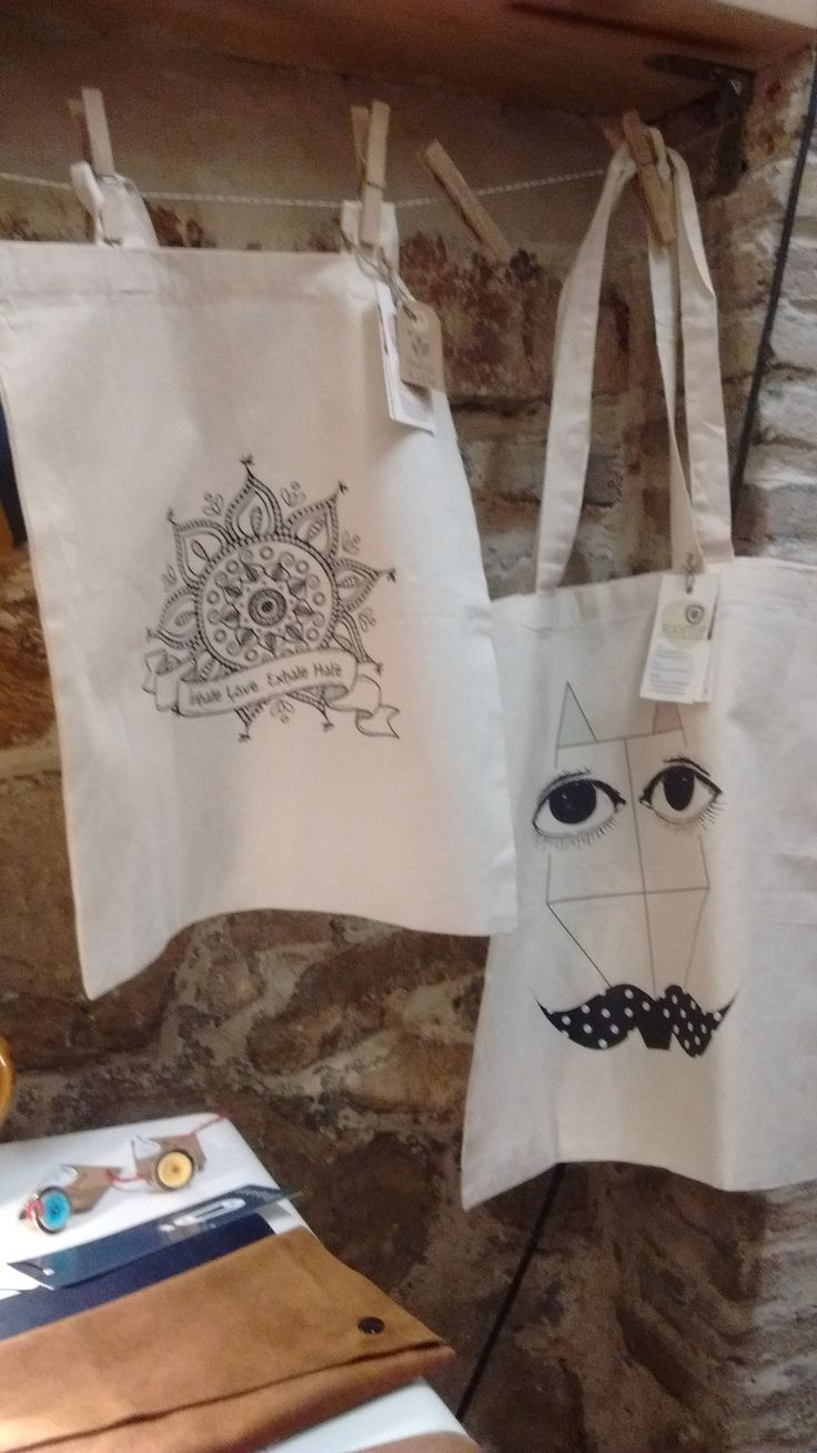 Organic fairtrade tote bags, by Rooftop. #totebags #shoppingbags #organiccotton #fairtrade #mandala #fox