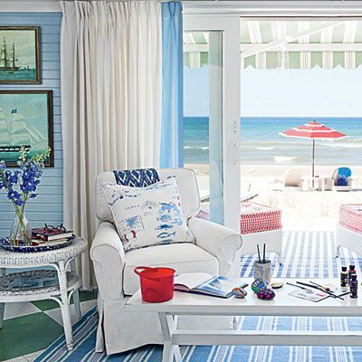 Sally Lee by the Sea | Coastal Living Room Inspiration! | http://nauticalcottageblog.com