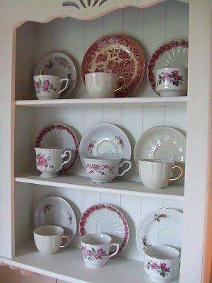 Simple tea cup display.