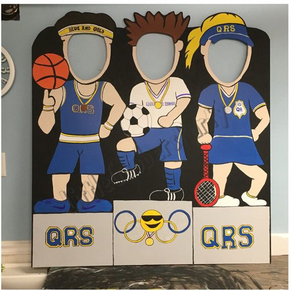 Olympic Photo Booth CutOut (WOODEN) / Outdoor Decoration and Prop / Sports Podium Photo Prop / Personalized homecomng prop