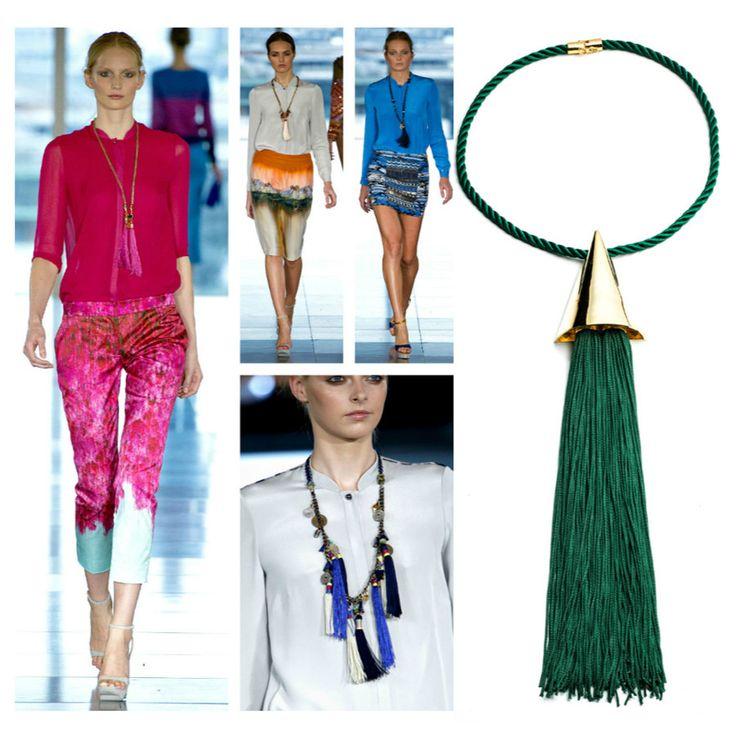 El ABC de tendencias de joyas para esta primavera: Tassels  BORLAS