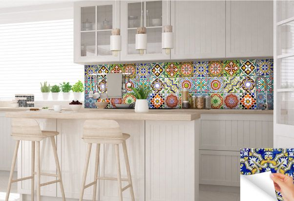carrelage stickers spanish Set of 24 Tiles Decals Tiles
