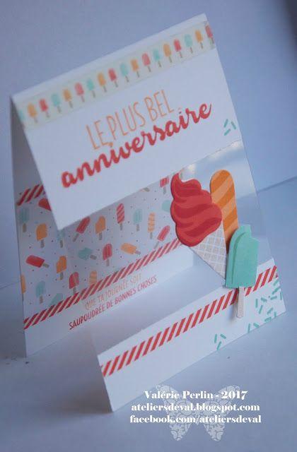 Les Ateliers de Val: Carte d'anniversaire Glaces