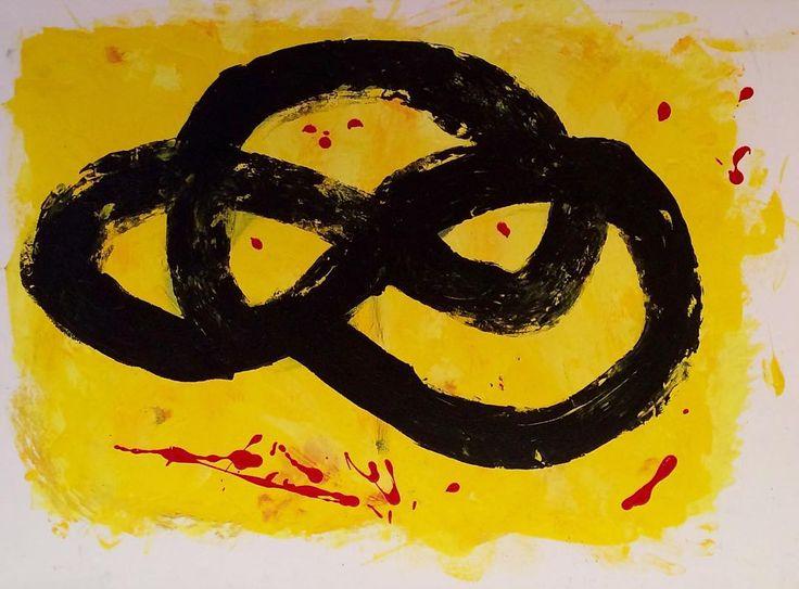 """ABSTRACT"" Copyright by www.anne-mette.com  #copyright #abstract #abstractarts #modernpainting #yellow #gul #modernekunst #modernart #artgallery #forsale #art #copenhagenartist #maleri #liles4likes #tilsalg #tilsalgkbh #email #emailtoorder #kunst@anne-mette.com"