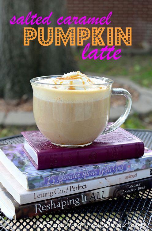 Salted Caramel Pumpkin Latte - coffee, milk, pumpkin puree, and caramel in a delicious fall latte