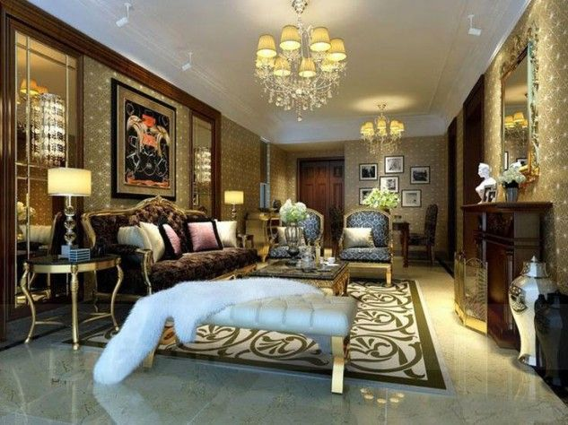 Luxury Living Room With Stunning Furniture Luxurious Living Room  Collections From Pinchen Design Glamour Living Room With Fancy Interior Des.